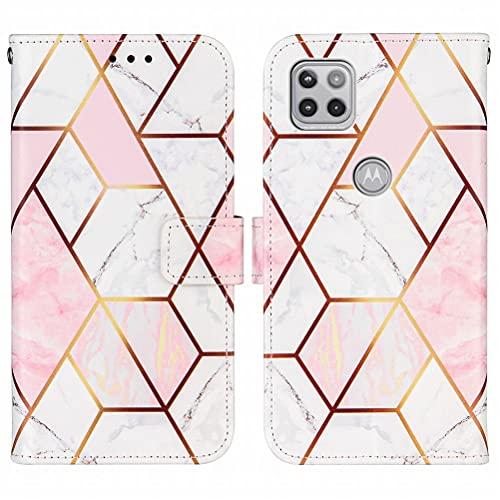 Yiizy Funda para Motorola One 5G Ace Carcasa Cuero Tapa Moda Piel...