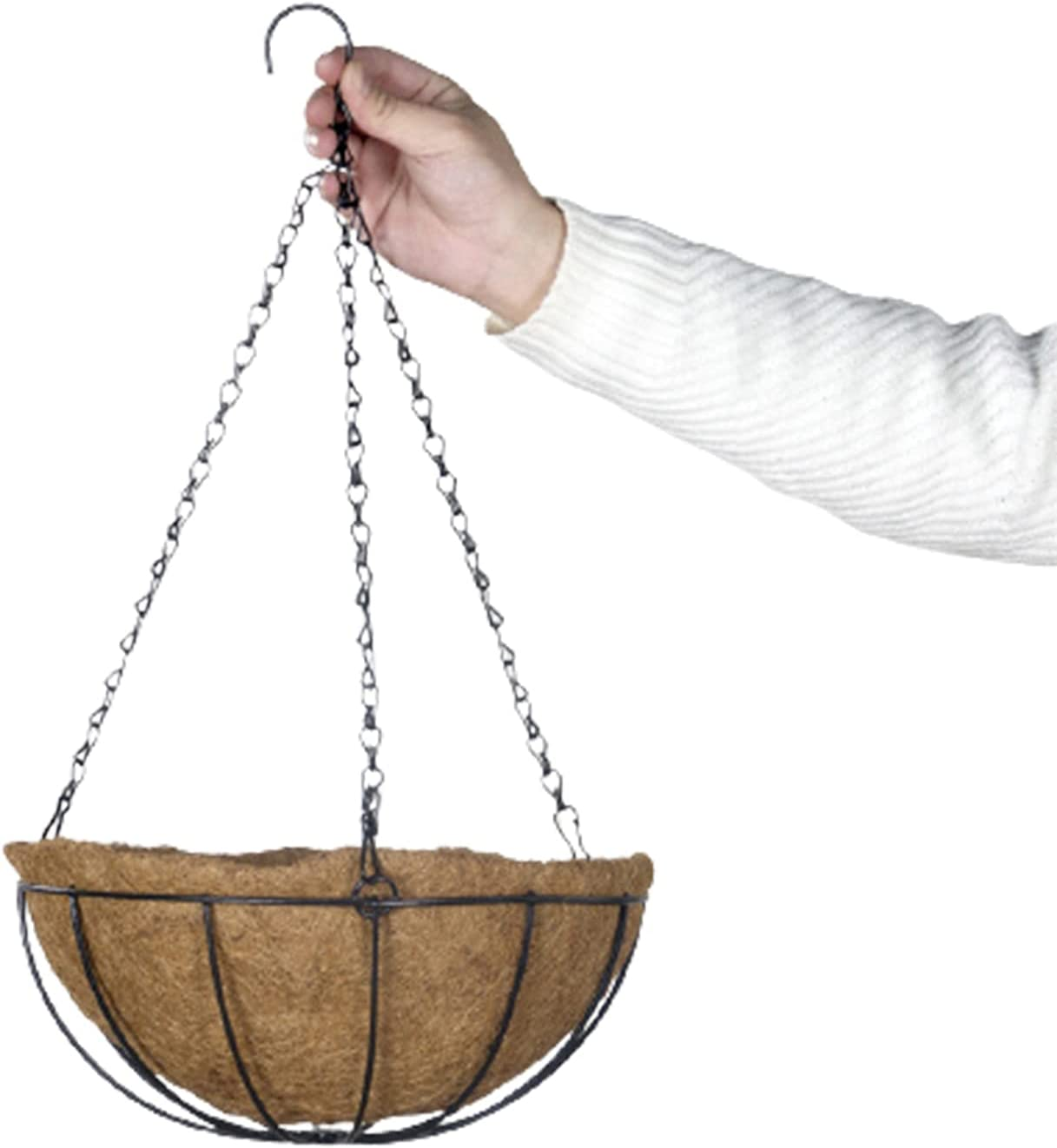 Hanging Coconut favorite Flower Pot Challenge the lowest price Iron Planter Craft Vegetable for