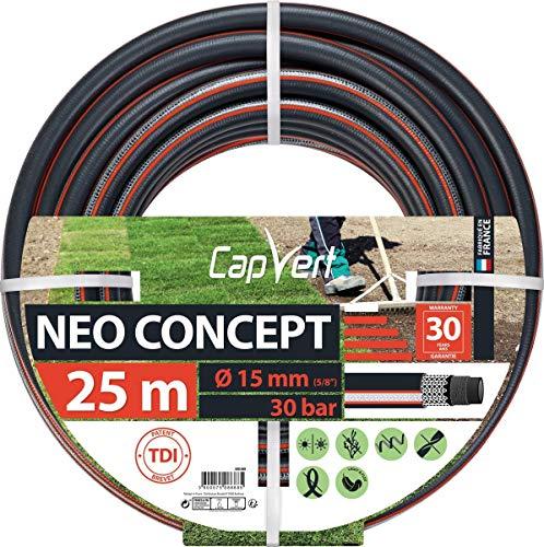 Cap Vert Tuyau d'arrosage Néo Concept Diamètre 15 mm - Longueur 25 m