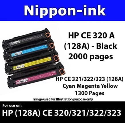 Nippon-ink CE322A (HP 128 A) Yellow Laser Toner - For HP - LaserJet CM1411FN CM1412TN CM1413FN CM1415FN CM1415FNW CM1416FNW CM1417FNW CM1418FNW CP1521 CP1522 CP1523