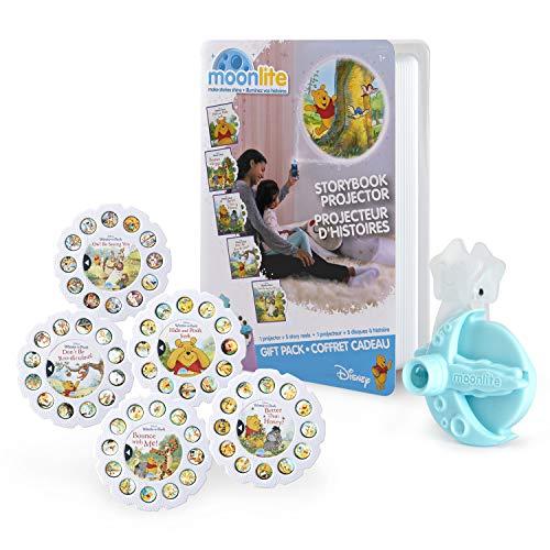 Moonlite, Winnie The Pooh - Pack de Regalo con proyector de Libros de Cuentos para Smartphones y 5 carretes de abalorio, Multicolor