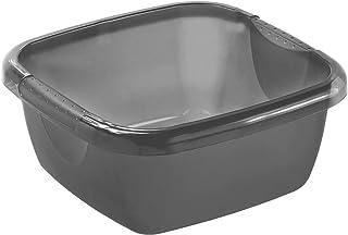 Rotho Daily cuvette / Bac de Rinçage 5L Carré, Plastique (PP) sans BPA, Anthracite, 5L (29,0 x 29,0 x 12,0 cm)