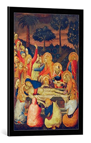 Kunst für Alle Cuadro con Marco: Simone Martini Die Grablegung Christi -...