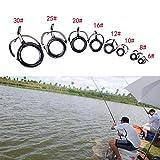 Yanxinenjoy 8 Piezas de caña de Pescar de Anillo de Ojo de Bricolaje de Acero Inoxidable, Puntas de guía para Reparar el Anillo de Alambre de la Herramienta