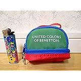 80年代 ビンテージ ベネトン BENETTON ミニバッグ キーホルダー コインケース 小物入れ レトロ 昭和 当時物
