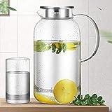 Caraffa per acqua trasparente, brocca per acqua resistente al calore e ad alta temperatura, caraffa per bevande per succo di grande capacità per uso domestico
