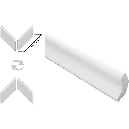 Zierleisten 20 cm Musterst/ück E-13 modern wei/ß 75 x 75 mm Decken-// und Wand/übergang dekorativ XPS Stuckprofile extrudiertes Styropor leicht und stabil