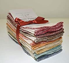 11x12 Inches 1 Ply Flannel G.O.T.S. Certified Organic Cotton Paperless Towels with Earthtone Edges 10 Pack