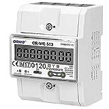 ORNO WE-513 Contatore Energia elettrica su guida DIN per sistemi trifase con certificato MID, 0,25A