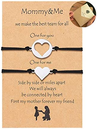KINGSIN Mom Daughter Bracelets valentines day gift Mommy and Me Matching Bracelets Birthday product image