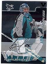 2001-02 BAP Signature Series Autographs #24 Evgeni Nabokov From the Vault Version Autograph Card - San Jose Sharks