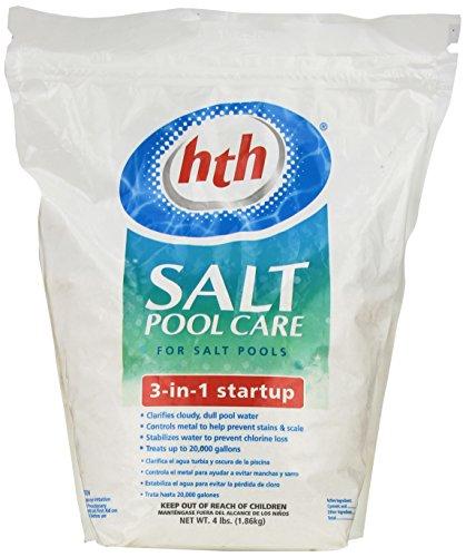 HTH 66527 Salt System 3 in 1 Start Up Pool Care, 4 lb.