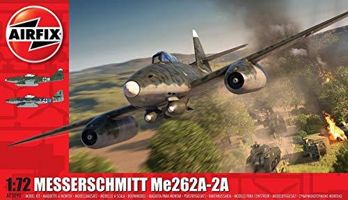 Airfix Messerschmitt ME262A-2A Airplane 1:72 WWII Military Aviation Plastic Model Kit A03090