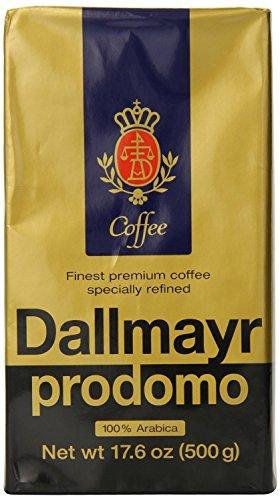 Dallmayr Gourmet Coffee, Prodomo (Ground), 17.6-Ounce Vacuum Packs - Pack of 3