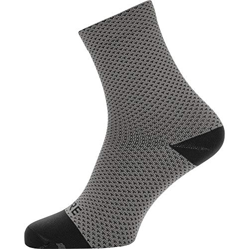 GORE WEAR Unisex C3 Dot Socken mittellang, Graphite Grey/Black, M-L EU