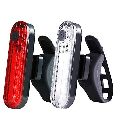 SEEZEN Luz trasera para bicicleta (2 unidades) Linterna luminosa de seguridad para...