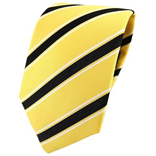 TigerTie - Corbata - amarillo negro blanco rayas