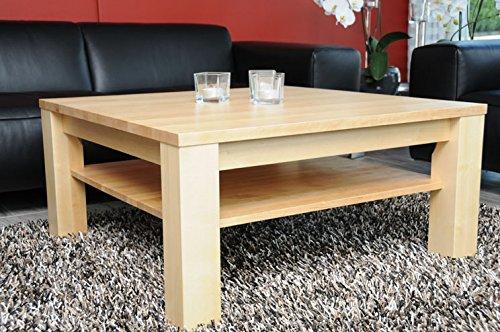Holz-Projekt-Summer Couchtisch Birke 90x60 Birke Höhe 42 cm, mit Ablage, Echtholz, Sondermaße auf Anfrage