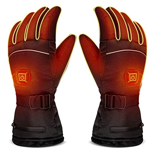 LUWATT Heated Gloves 8H Working Hours 3500mAh Rechargeable Battery Three Temperature Settings...