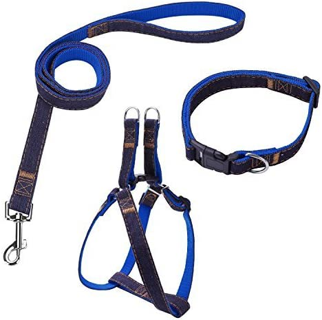 Bark Lover Dog Harness Leash and Collar Matching Sets for Small Puppy Medium Large Dogs Pets product image