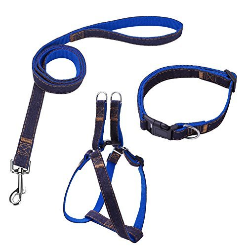 Bark Lover Dog Harness Leash and Collar Matching Sets for Small Puppy Medium...