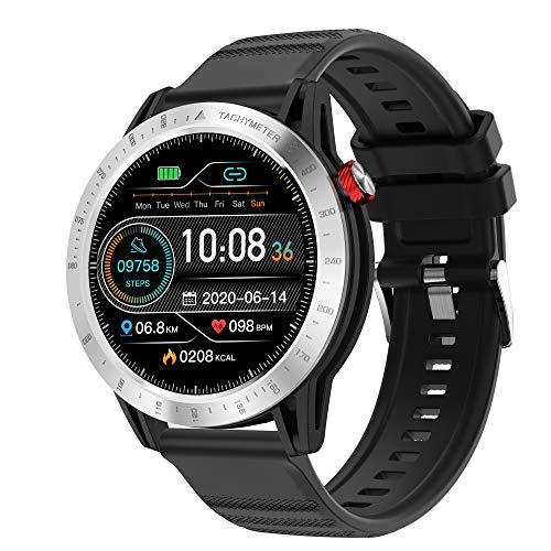 Voigoo Reloj Inteligente, Smartwatch Hombre 3ATM Impermeable con 10 Modos Deportivos Cronómetro Pulsómetro Pulsera Actividad Inteligente Smartwatch Android iOS para Xiaomi Huawei iPhoneTeléfono