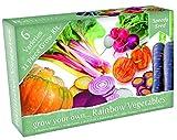 Kit regalo per la coltivazione di verdure strane e funky. 6 varietà straordinarie da coltivare. Include semi, terriccio, cartellini ed una serretta. fantastico regalo per gli amanti del giardinaggio.