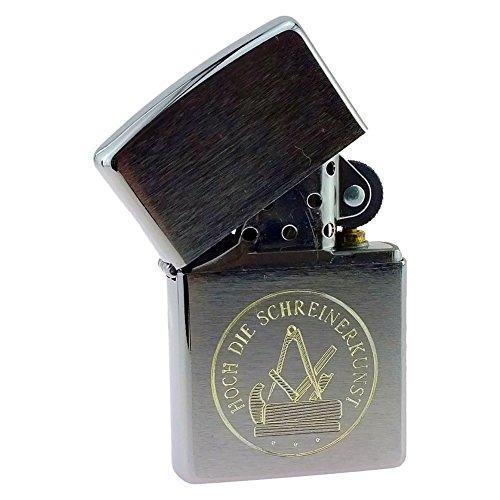 Sturmfeuerzeug für Schreiner mit Gravur Handwerk und Zunftzeichen Benzinfeuerzeug - ohne Zubehör