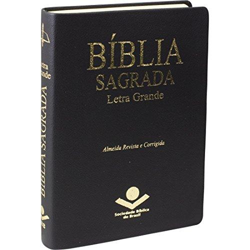 Bíblia Sagrada Letra Grande com índice digital - Couro sintético Preta: Almeida Revista e Corrigida (ARC)
