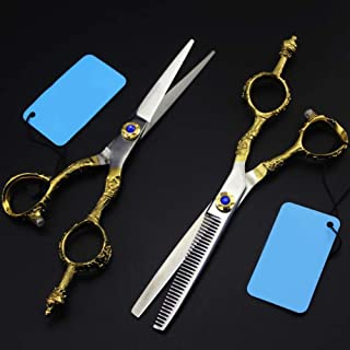 Hairdressing Cutting Scissors Thinning Barber Scissors Set Hairdresser Scissors,toothcut6inch