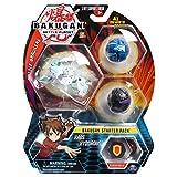 BAKUGAN Starter Pack, 3 sfere, 2 Classici e 1 Ultra, Dragonoid Black, T-Rex Blue e Lion White