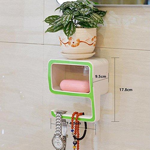 Tapis de bain Xuan - Worth Having Créative numéro 9 Style Porte-Savon Vert Ventouse Type étagère