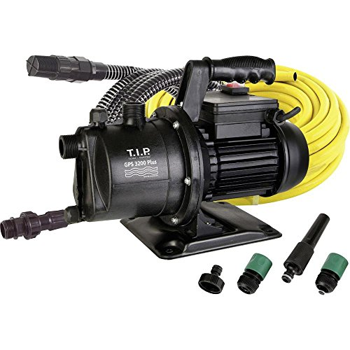 T.I.P. 30172 Gartenpumpen-Set GPS 3200 Plus, bis 3.200 l/h Fördermenge