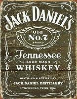 なまけ者雑貨屋 Jack Daniel's - Weathered Logo ブリキ看板 ガレージ アメリカン ホットロッド メタルプレート レトロ アンティーク 復古調 ブリキ看板 ガレージ アメリカン 復刻版 アンティーク風 雑貨 おしゃれ インテリア