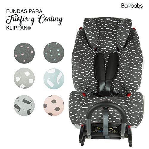 BAOBABS BCN Funda para Triofix y Century de Klippan white waves acabado de calidad para bebé