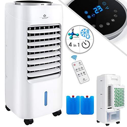 KESSER® 4in1 Mobile Klimaanlage | Fernbedienung | Klimagerät | Ventilator Klimaanlage | 7 L Tank | Timer | 3 Stufen | Ionisator Luftbefeuchter | Luftkühler | Weiß (Misc.)