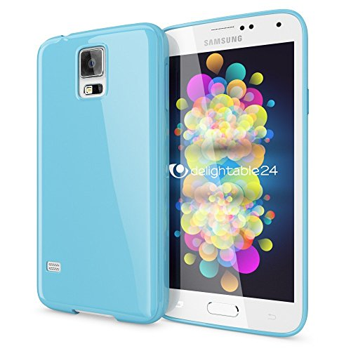 NALIA Custodia compatibile con Samsung Galaxy S5 S5 Neo, Cover Protezione Ultra-Slim Case Protettiva Morbido Cellulare in Silicone Gel, Gomma Jelly Telefono Bumper Sottile - Blu Chiaro