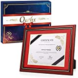 ✅ Easy to install on wall or desktop: Oathx diploma frames have two hooks and can be hung on the wall either vertically or horizontally. Our certificate frames can also be displayed on the desktop vertically or horizontally with the built-in easel. O...