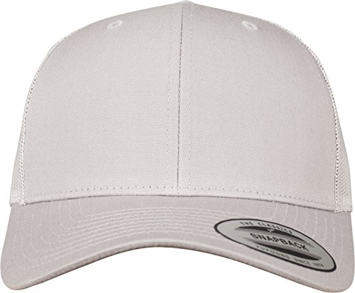 Flexfit Snapback Unisex Baseball-Mütze | Trucker Kappe Mesh Basecap, Silber (silver), Gr. One size