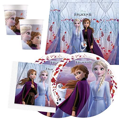 amscan Pack de Vaisselle Disney Frozen 2 pour 16 Personnes