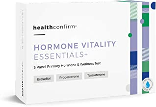 HealthConfirm Hormone Vitality Essentials, Morning Hormone Balance Saliva Collection Test Kit (3 Panel)