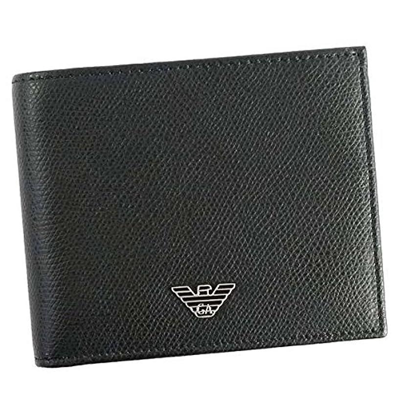 適用する露不倫(エンポリオアルマーニ) EMPORIO ARMANI WALLET メンズ 二つ折り財布 [並行輸入品]