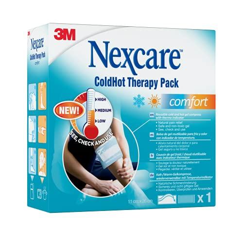 Nexcare ColdHot Comfort - Bolsa de gel reutilizable para frío y calor con indicador de temperatura