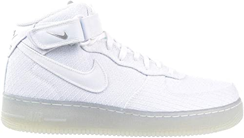 NIKE Air Force 1 Mid 07 LV 8 Hommes's chaussures blanc Metallic argent 804609-102 (10.5 D(M) US)