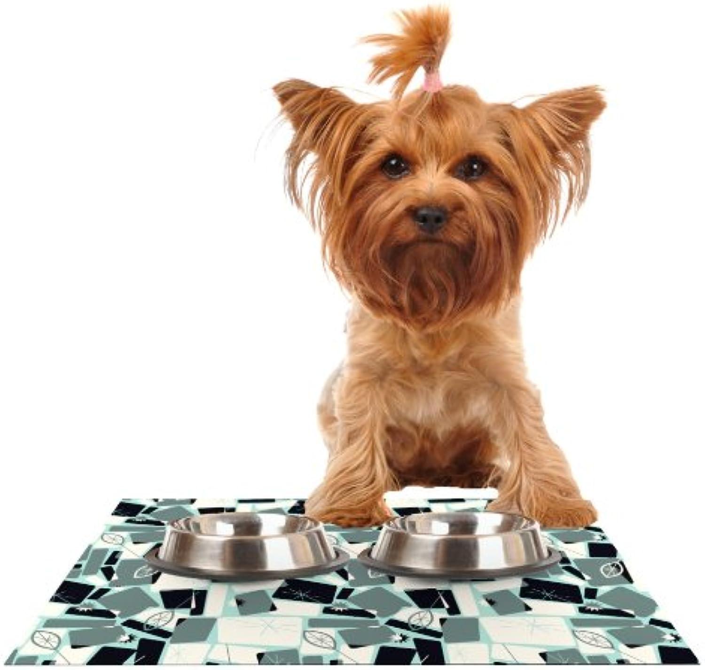 Kess InHouse Allison Beilke Vacation Days Chess  Feeding Mat for Pet Bowl, 18 by 13