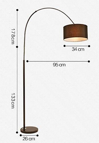 AG Lámpara de pie Led de Lectura casera, Lámpara de pie Creativa Sala de Estar Dormitorio Estudio Mesita de Noche Lámpara de pie Vertical Protección de los Ojos Lámpara de Mesa Vertical,marrón