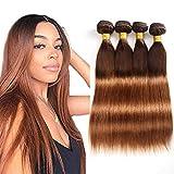 Ombre Brazilian Straight Hair Bundles 8A Ombre Brazilian Virgin Straight Human Hair 4 Bundles 100% Unprocessed Remy Hair Bundles 2 Tone Ombre Bundles (T4/30,16''18''20''22'')