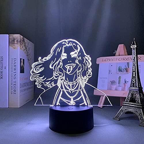 GMYXSW Anime 3D lámpara LED noche luz para dormitorio infantil decoración cumpleaños regalo toque