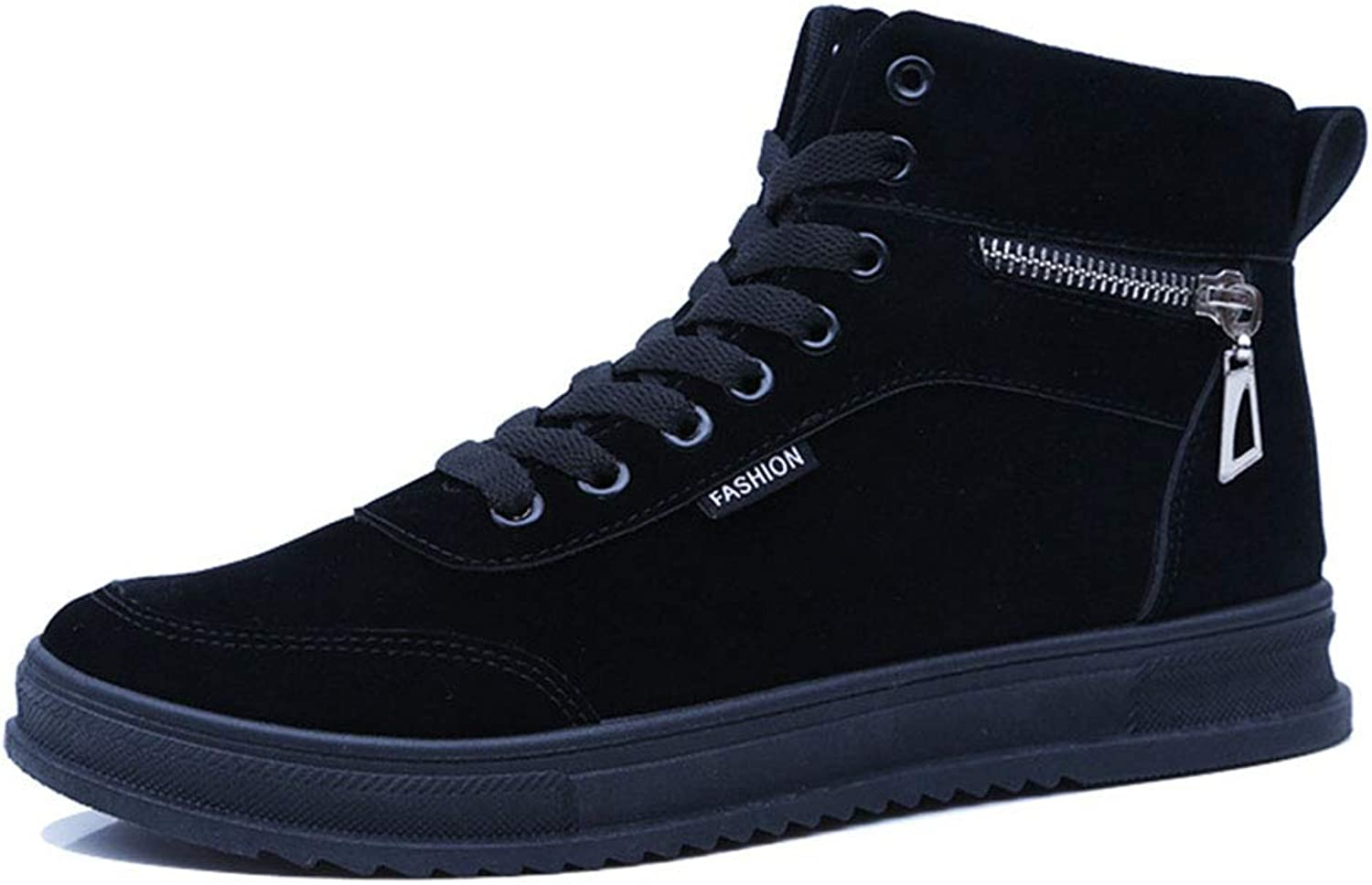 Men's Boots Suede Fall & Winter High-Top Casual shoes Fashion Sports shoes Lace Up Academy Deck shoes Outdoor Hiking shoes,B,41