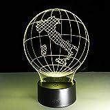 Italia mapa de la tierra lámpara de mesa 3D lámpara LED lámpara multicolor USB de seta multicolor